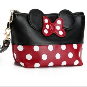 Handbags - Minnie Polka Dot Wristlet/Cosmetics Bag NIP